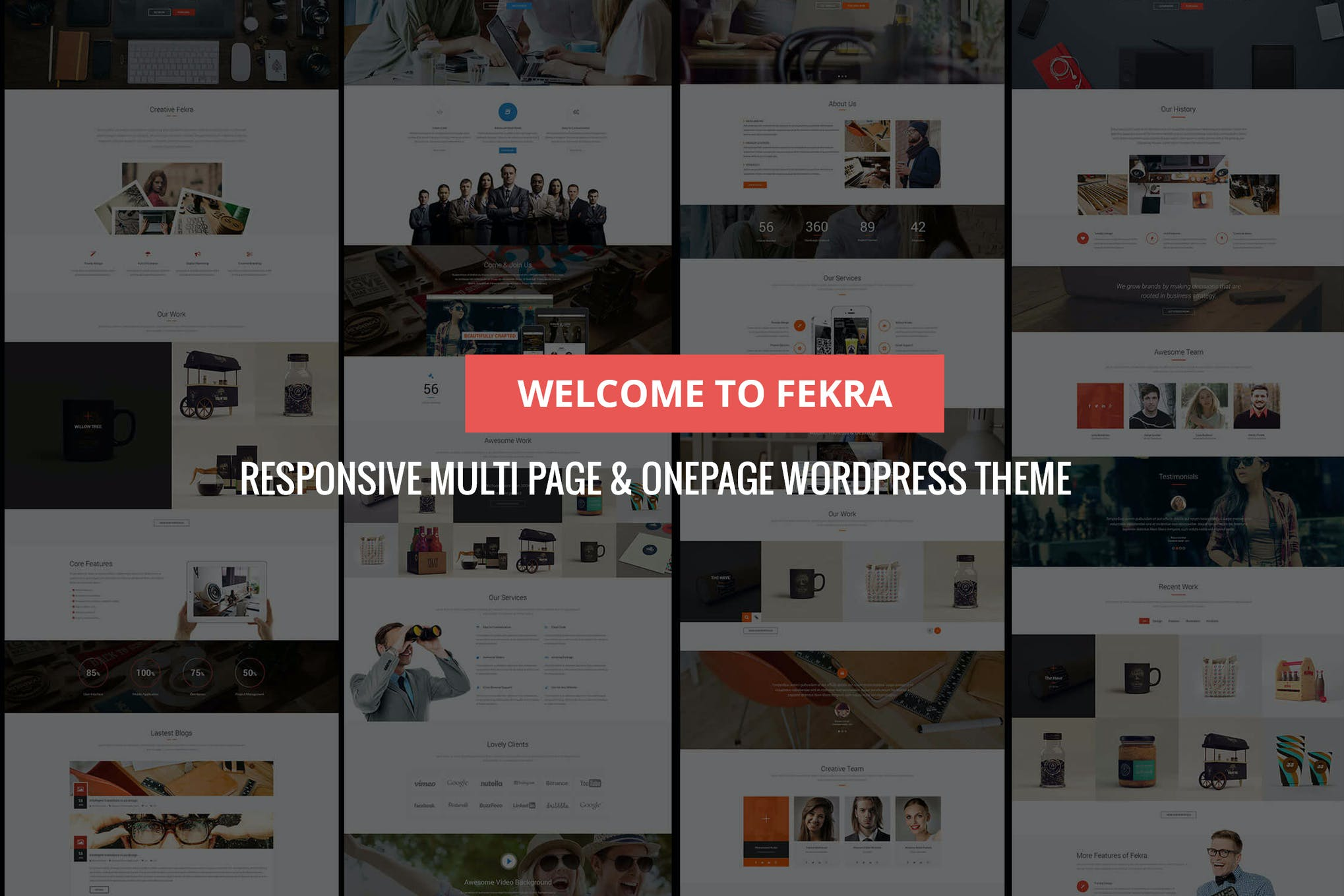 Fekra – Multi Page/One Page WordPress Theme